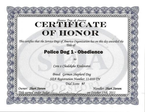 Cora-PoliceDog1-obedience 1